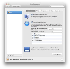 controle parental mac - applications